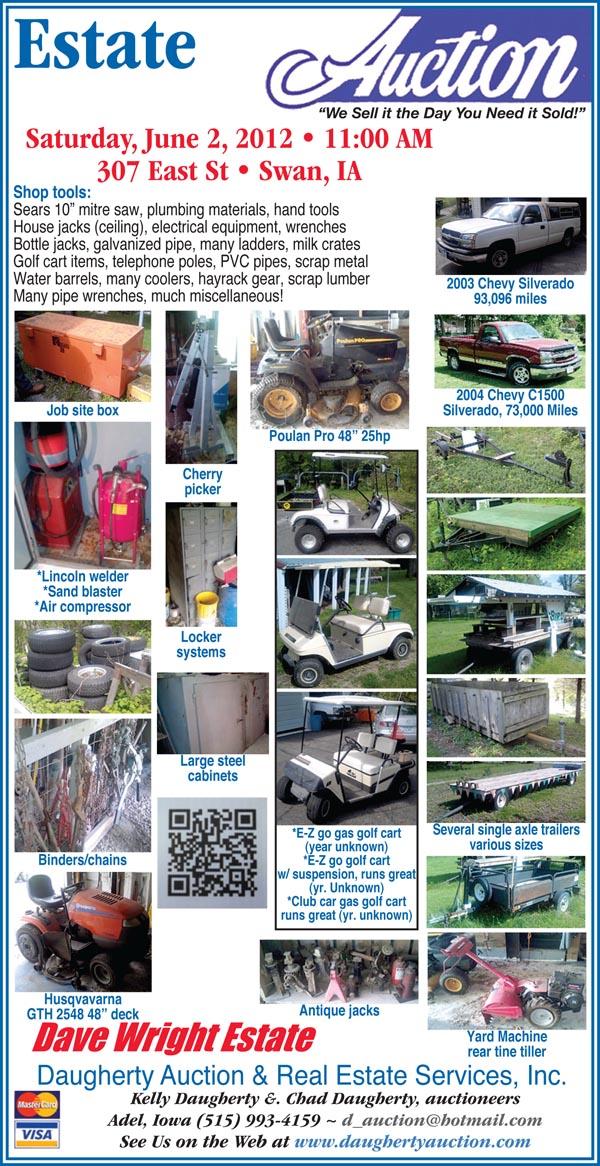 auctions daugherty auction estate shop tools lawn garden
