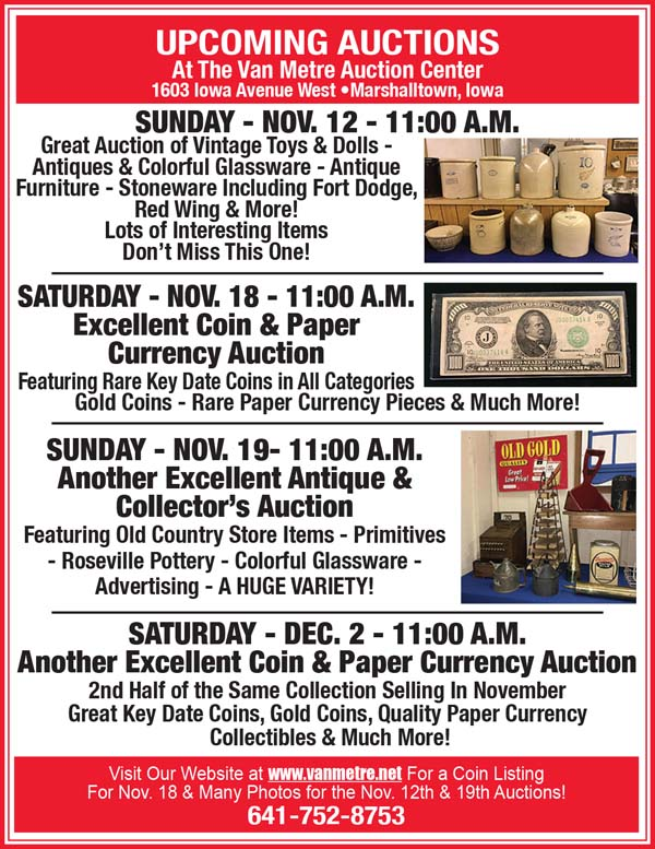 Auction List - Van Metre Auction, Antique & Collector's Auction